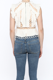 luxxel Circle Crop Top - Back cropped
