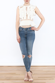 luxxel Circle Crop Top - Side cropped