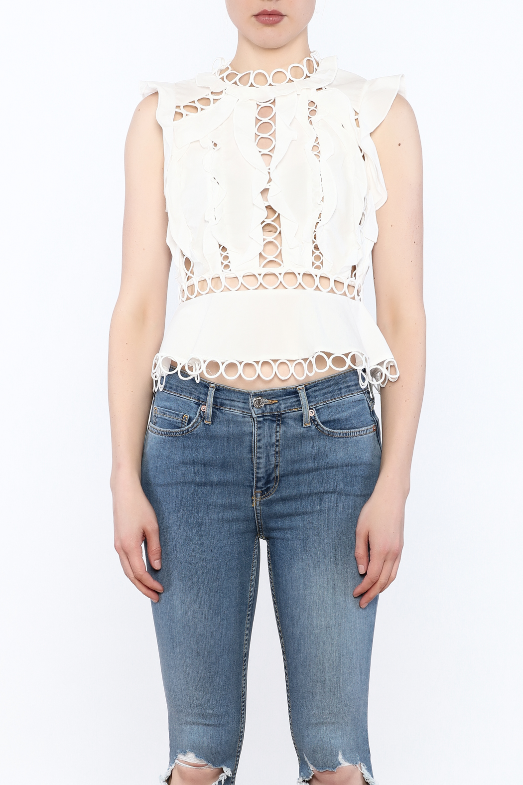 luxxel Circle Crop Top - Front Full Image