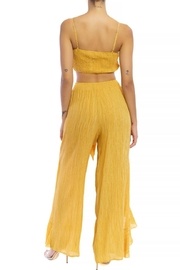 luxxel Crinkle Ruffle Pant-Set - Front full body