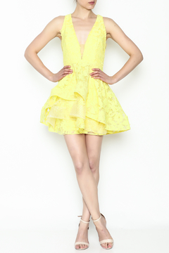 Shoptiques Product: Yellow Crochet Dress
