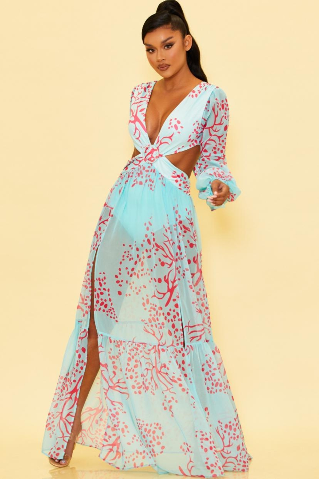 luxxel Cut-Out Maxi Dress - Main Image