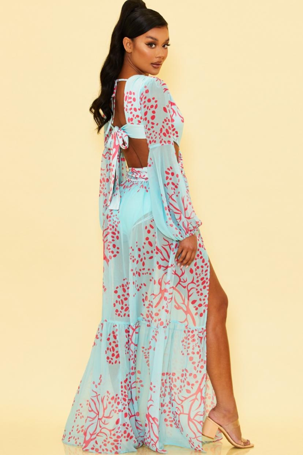 luxxel Cut-Out Maxi Dress - Front Full Image