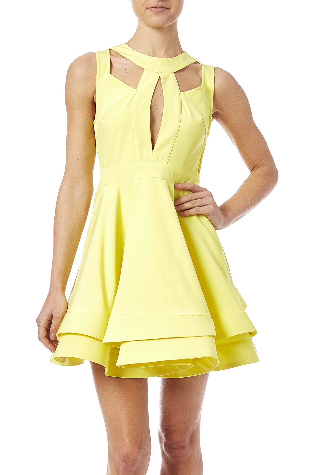 luxxel Cutout Flare Dress - Main Image