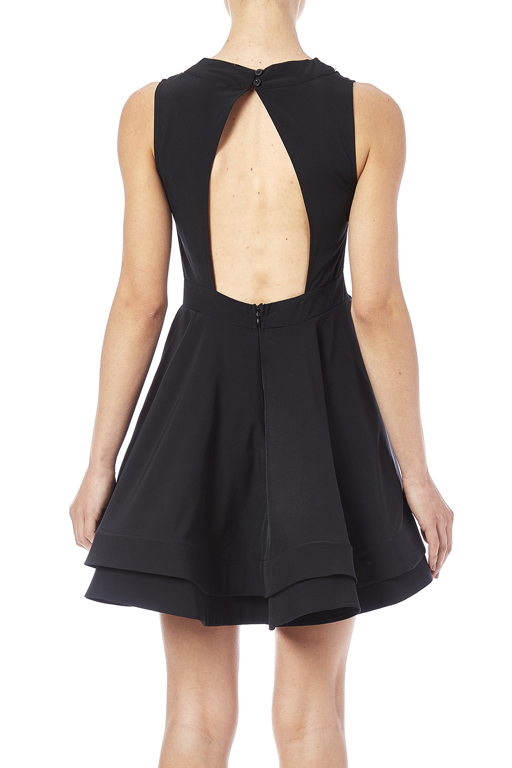 luxxel Cutout Flare Dress - Back Cropped Image