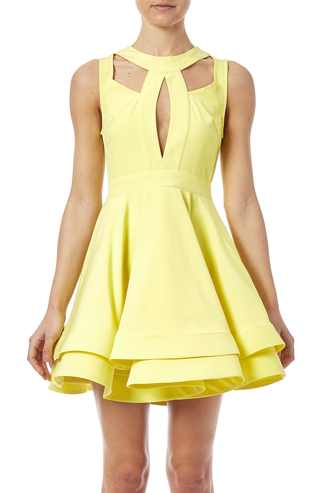 luxxel Cutout Flare Dress - Side Cropped Image