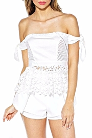 luxxel Daisy Peplum Top - Front cropped
