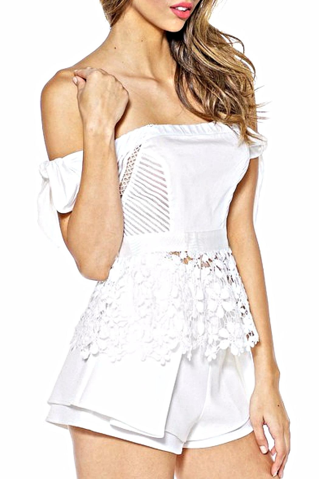 luxxel Daisy Peplum Top - Front Full Image