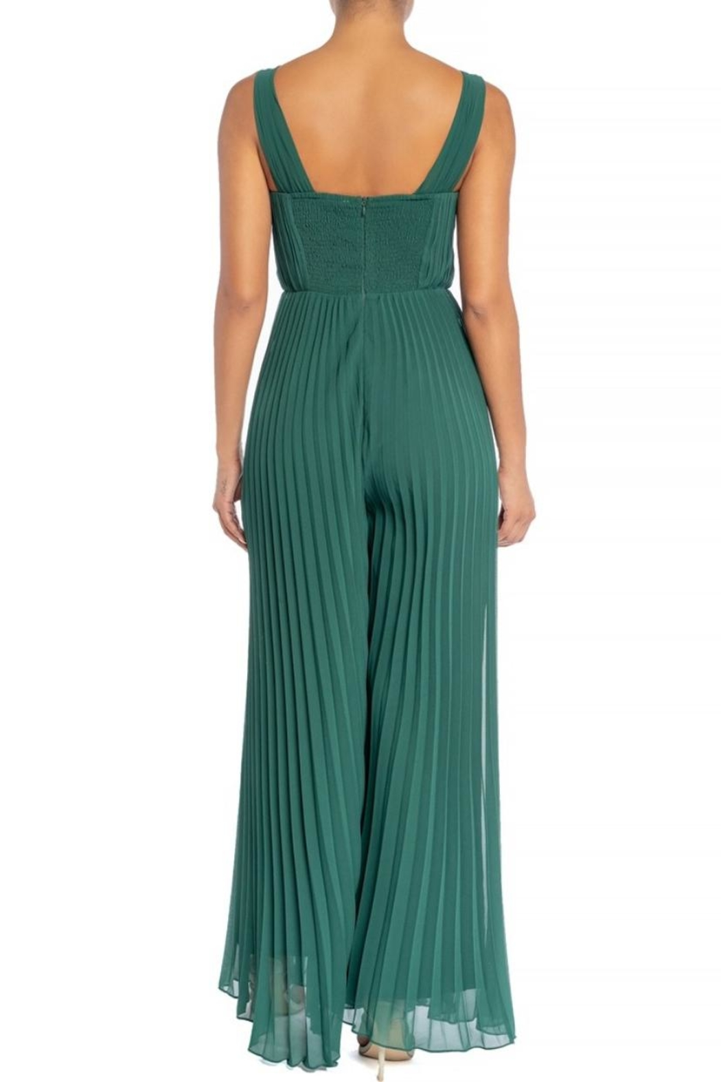 luxxel Draped Pleats Jumpsuit - Front Full Image