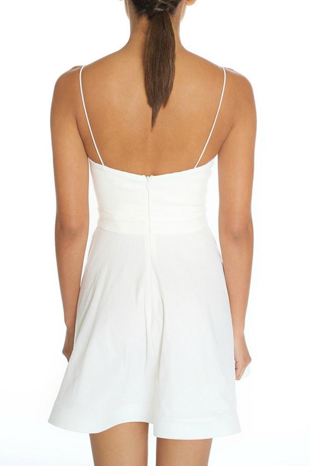 luxxel Sweetheart White Dress - Side Cropped Image
