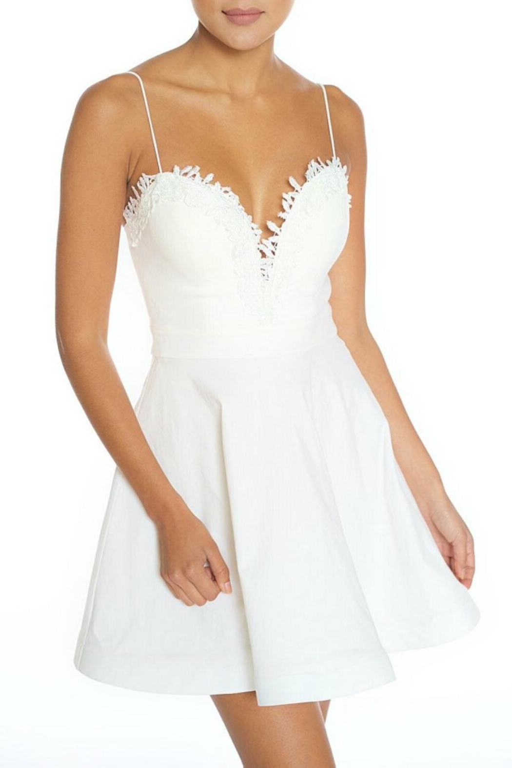 luxxel Sweetheart White Dress - Main Image