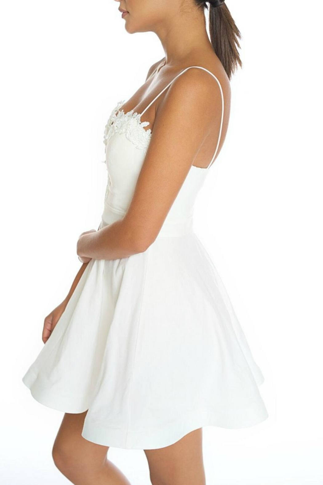 luxxel Sweetheart White Dress - Front Full Image
