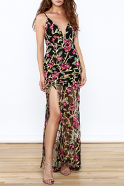 luxxel Embroidered Lace Maxi Dress - Front cropped