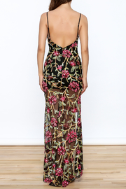 luxxel Embroidered Lace Maxi Dress - Back cropped