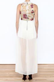 luxxel Embroidered Maxi Romper - Back cropped