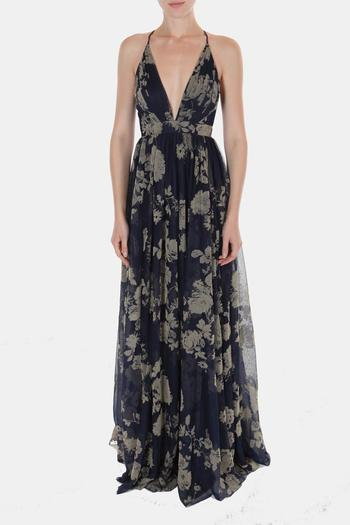 9a3dffb604 Luxxel Red Floral Maxi Dress From Los Angeles By Goldies Shoptiques ...