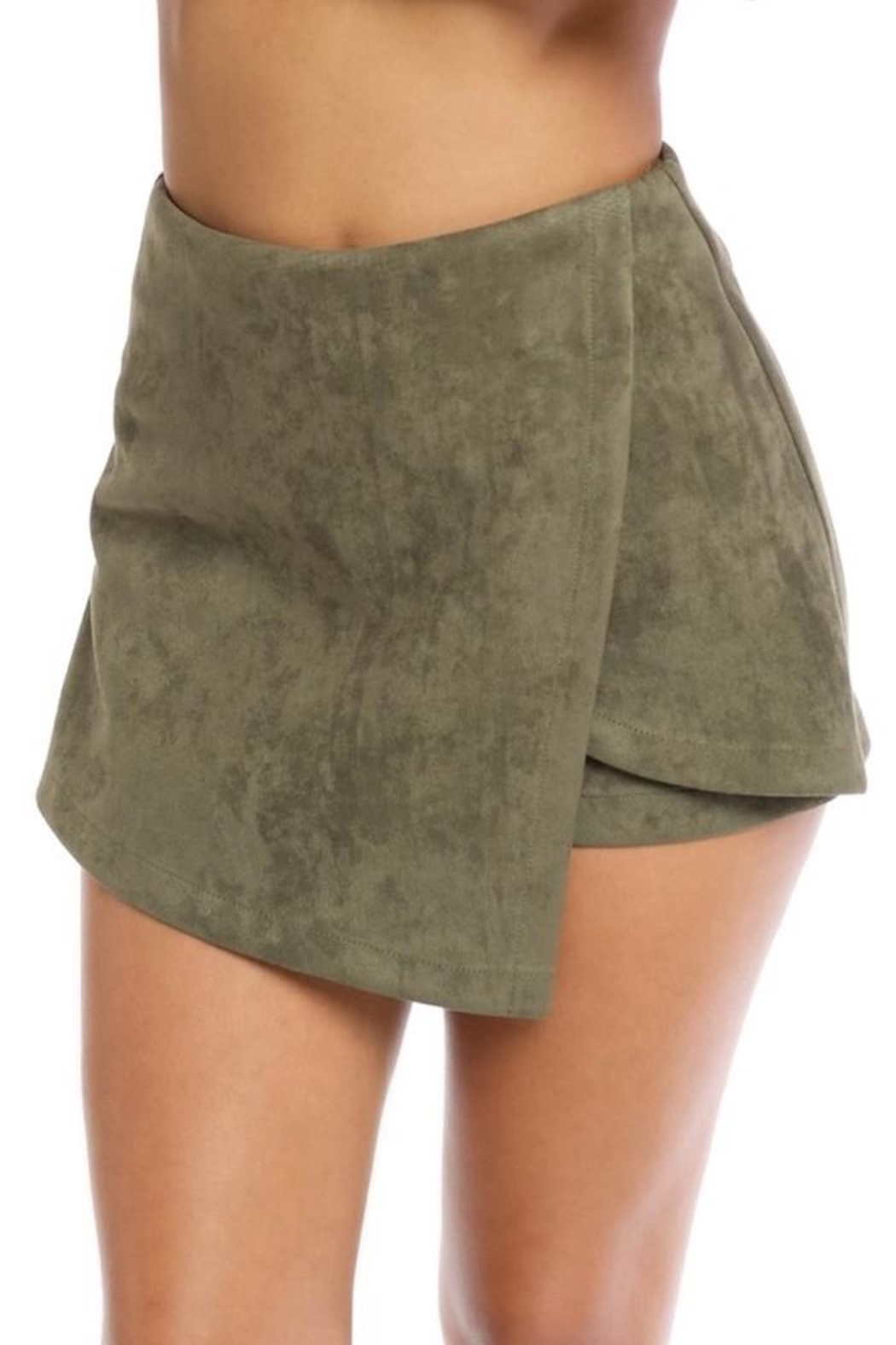 luxxel Faux Suede Shorts - Main Image