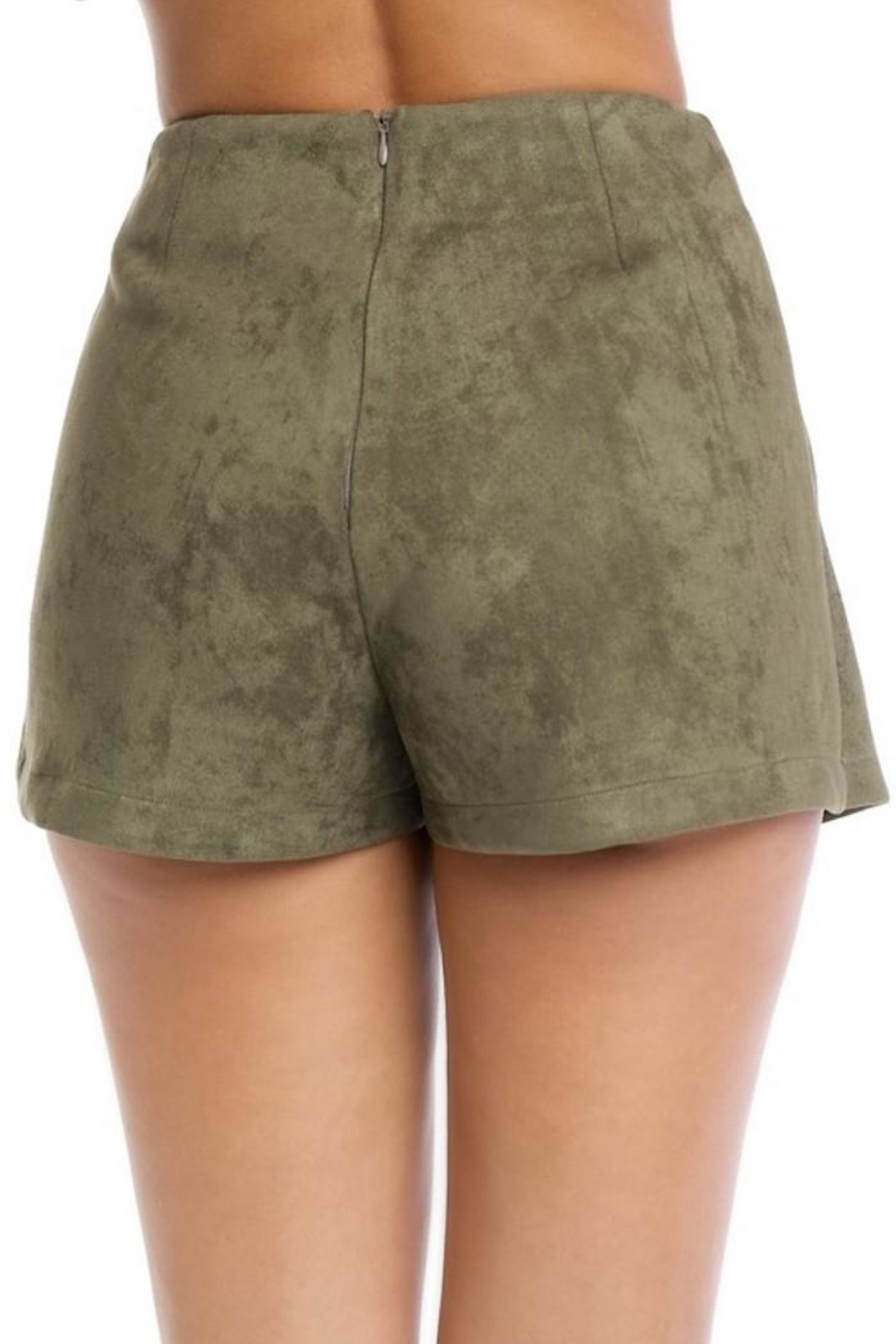 luxxel Faux Suede Shorts - Front Full Image