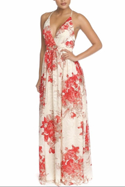 luxxel Flock Chiffon Gown - Front cropped
