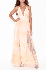 luxxel Peach Maxi Dress - Product Mini Image