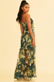 luxxel Floral Chiffon Dress - Front full body