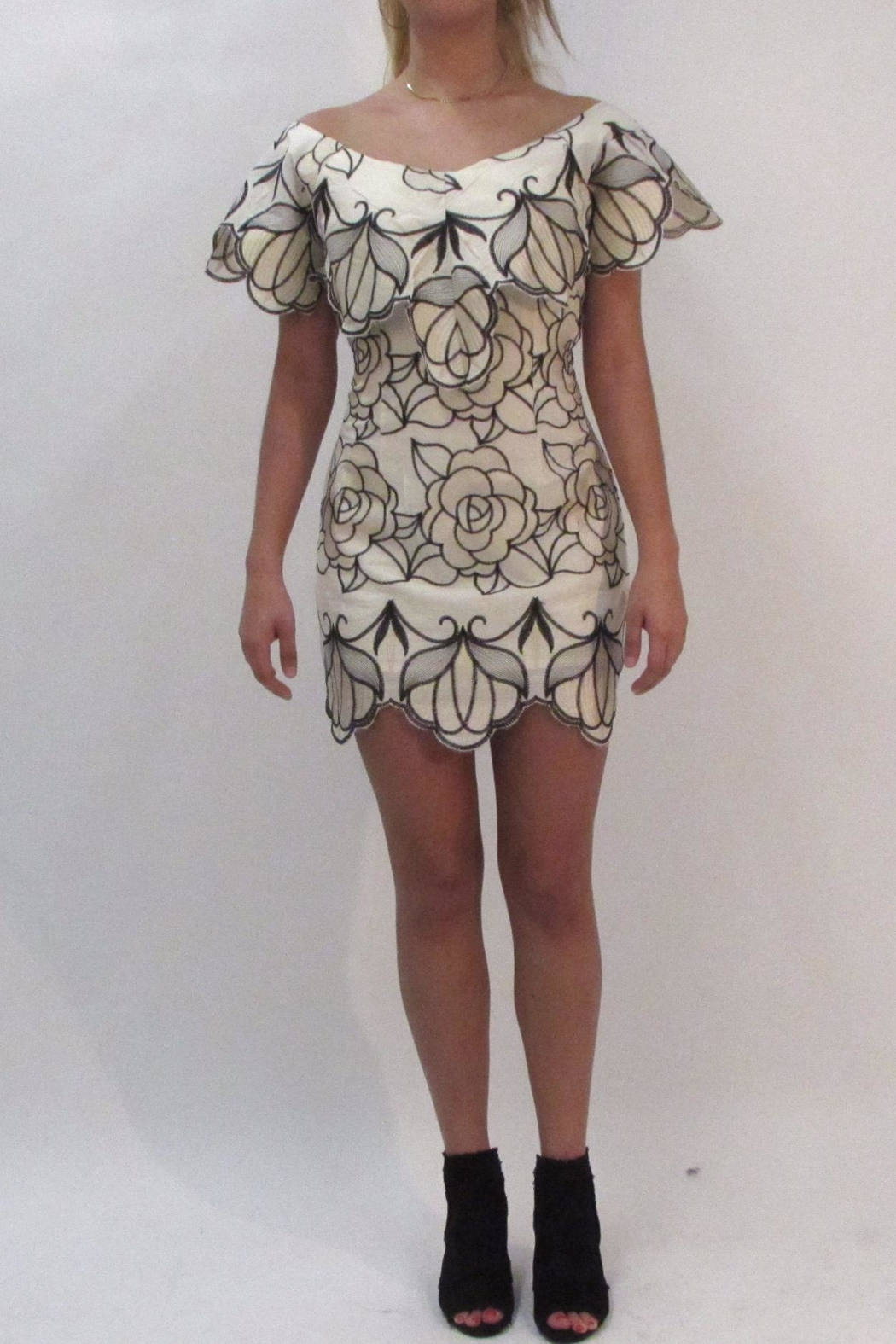 luxxel Floral Crochet Dress - Main Image
