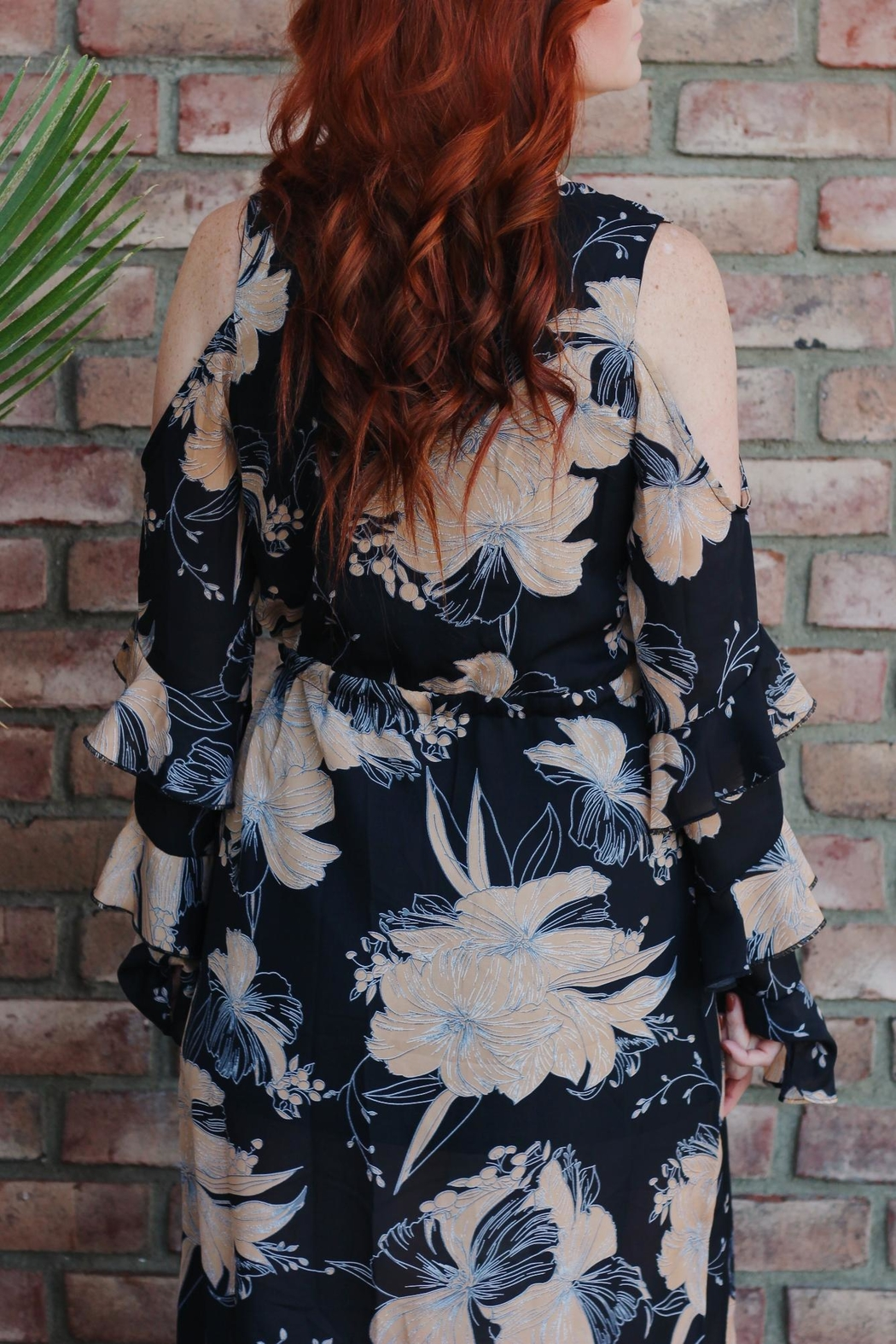 luxxel Floral Dress Ruffles - Front Full Image