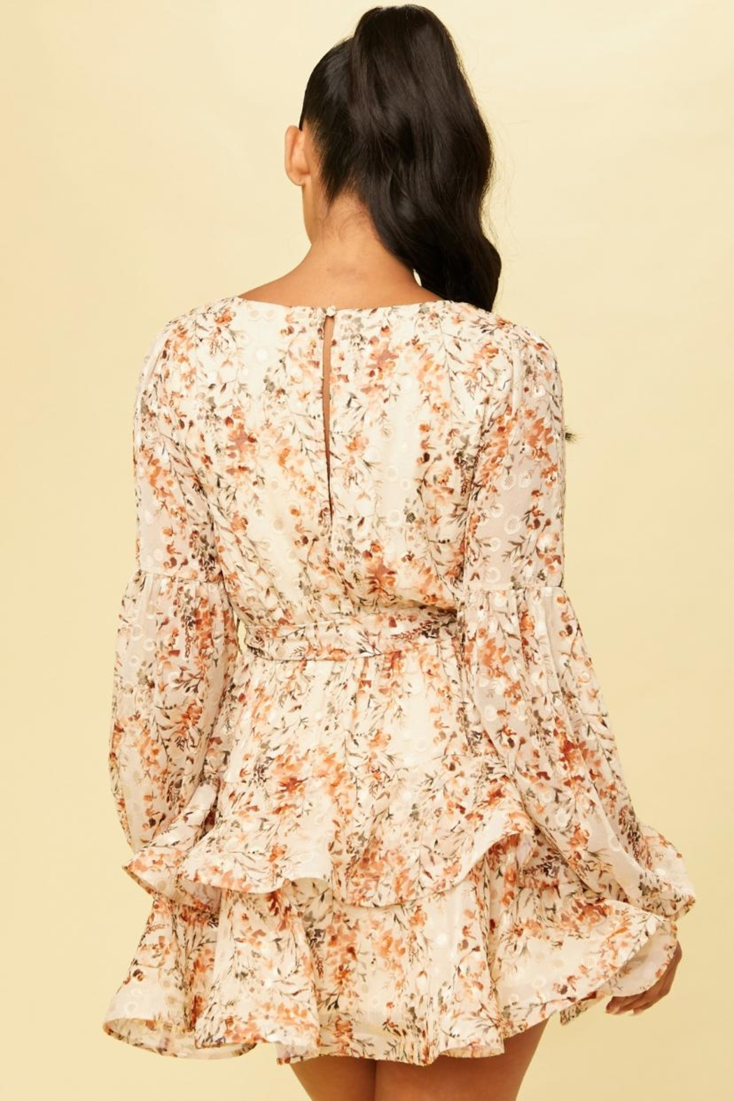 luxxel Floral Flare Dress - Front Full Image