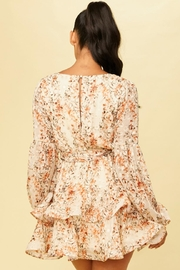 luxxel Floral Flare Dress - Front full body