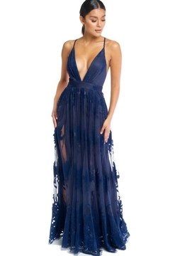 luxxel Floral Flocked Maxi - Product List Image