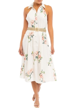 luxxel Floral Halter Midi - Product List Image