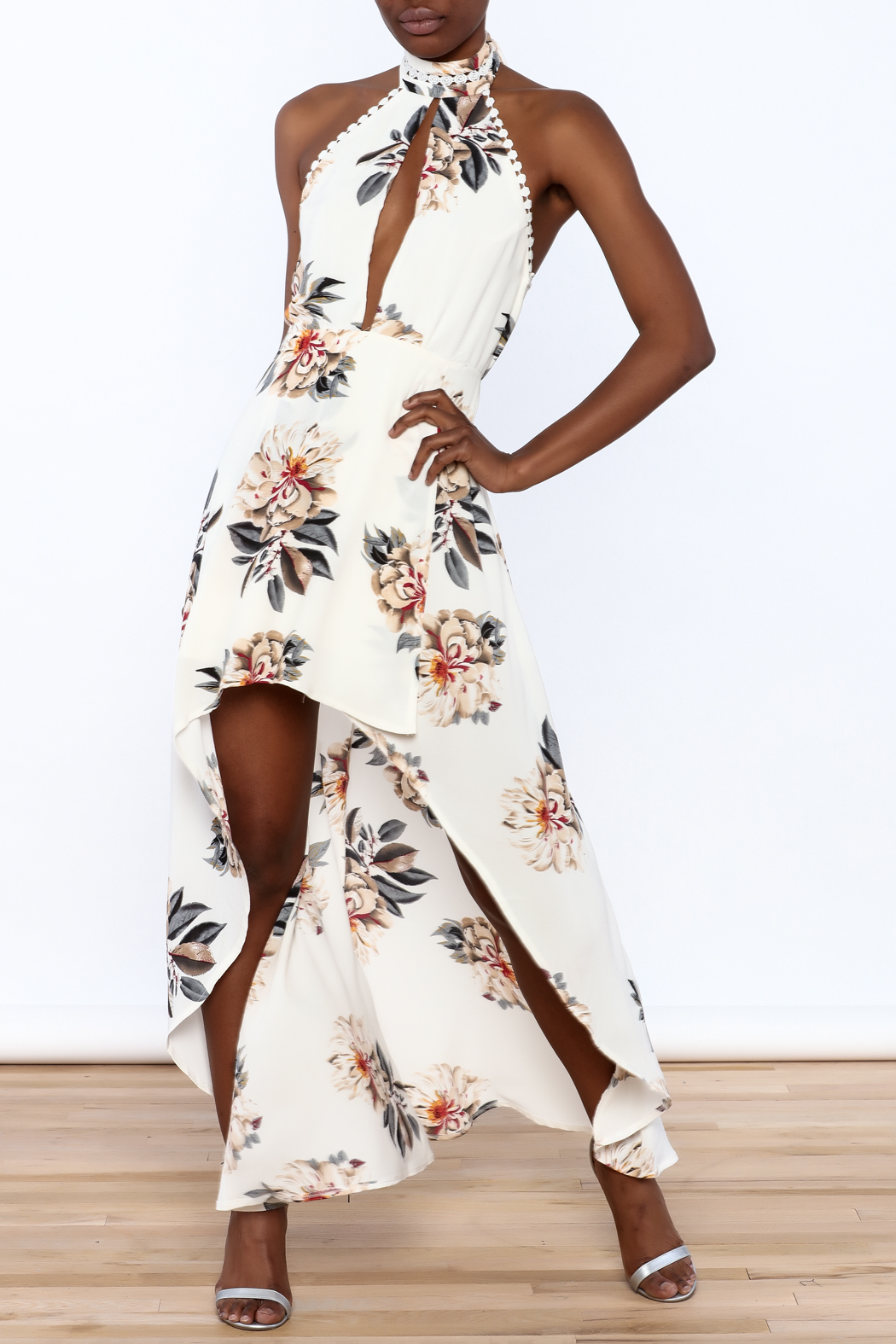 luxxel Floral Maxi Romper - Main Image