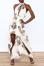 luxxel Floral Maxi Romper - Front full body