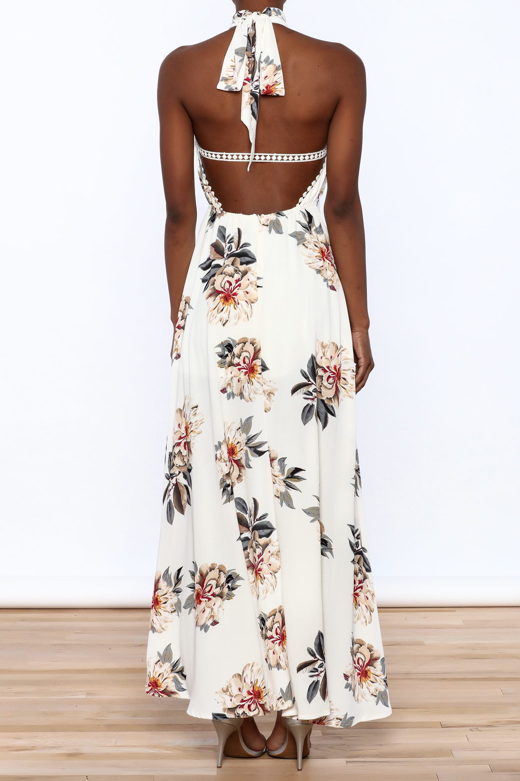 luxxel Floral Maxi Romper - Back Cropped Image
