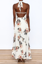 luxxel Floral Maxi Romper - Back cropped