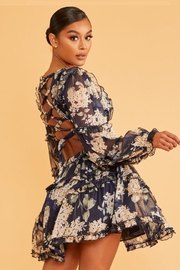 luxxel Floral Mini Dress - Front full body