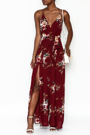 luxxel Floral Open Jumpsuit - Product Mini Image