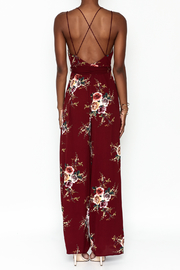 luxxel Floral Open Jumpsuit - Back cropped