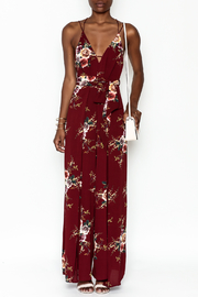 luxxel Floral Open Jumpsuit - Front full body