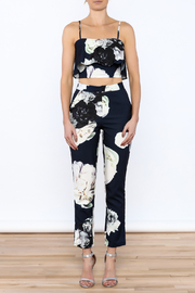 luxxel Navy Floral Pant Set - Front cropped