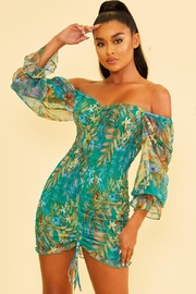 luxxel Floral Scrunch Dress - Product Mini Image