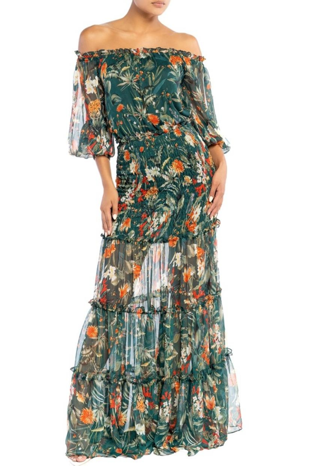 luxxel Floral Scrunch Maxi - Main Image
