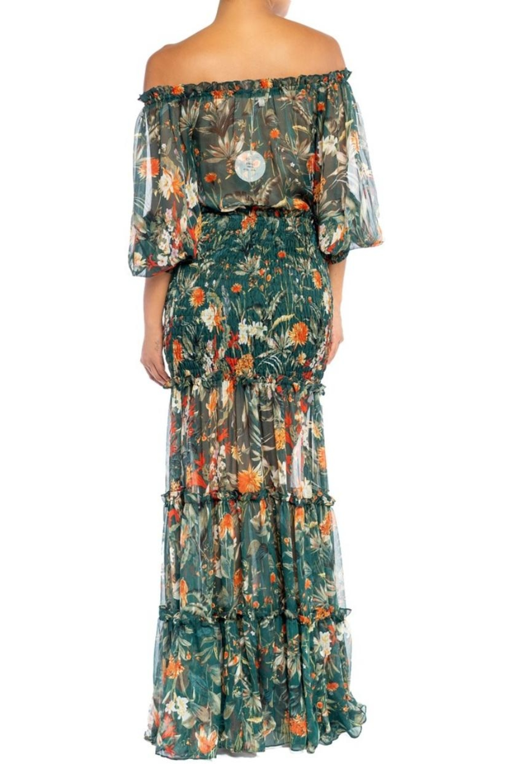 luxxel Floral Scrunch Maxi - Front Full Image