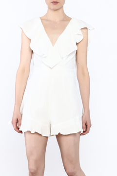 Shoptiques Product: Elegant White Sleeveless Romper