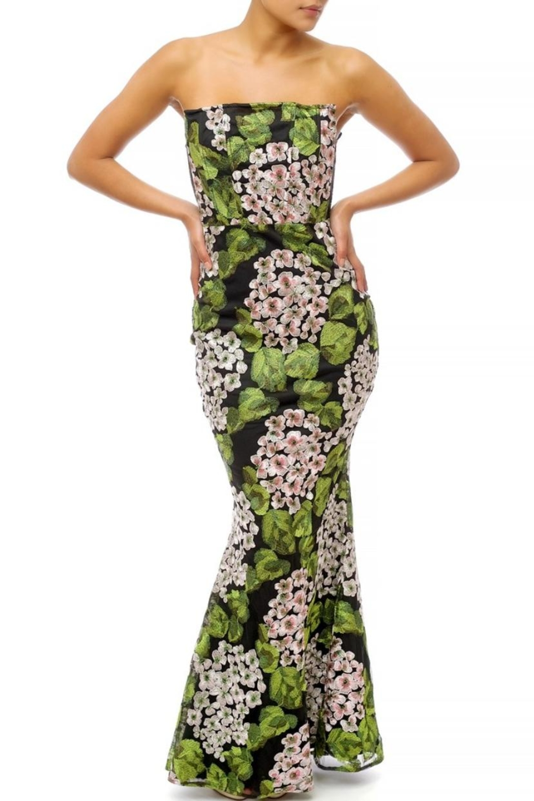luxxel Garden Floral Maxi - Front Cropped Image