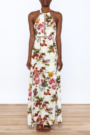 luxxel Garden Wrap Maxi Dress - Front cropped