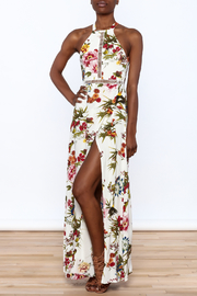 luxxel Garden Wrap Maxi Dress - Front full body