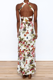 luxxel Garden Wrap Maxi Dress - Back cropped