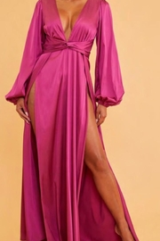 luxxel Gemstone Satin Dress - Front cropped