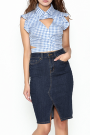 luxxel Gingham Blouse - Product Mini Image